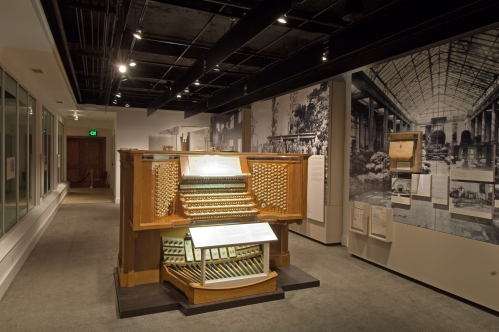 The Organ Console in the Organ Museum