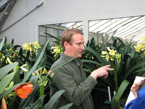 Inside the research greenhouses