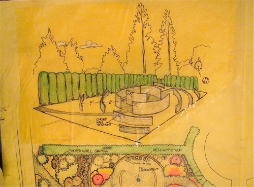 Design Sketch for the 2011 Student Exhibition Gardens