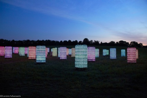 Arrive before dusk to capture the landscape and sunset, in addition to the Light Installations
